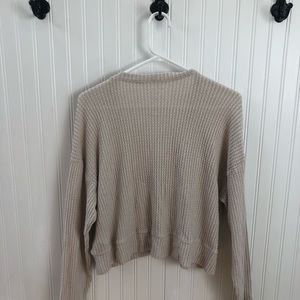 American Eagle Outfitters Sweaters - Natural waffle knit cardigan